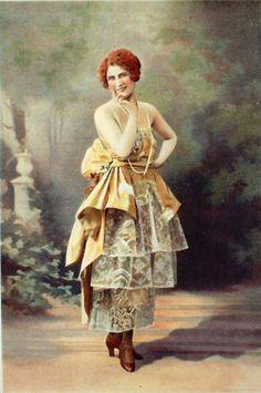Evening dress, by Marion Belle, Les Modes, 1920