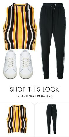 """randomly."" by inlovewith4idiots ❤ liked on Polyvore featuring Topshop and adidas Originals"