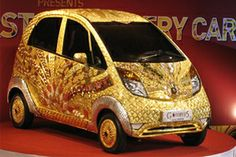 Nano, the world's cheapest car can cost $ 4.6 million when it is fully coated with GOLD, silver and gems.