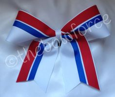 Red Royal Blue White Cheer Bow on Etsy, $7.00
