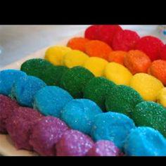 Rainbow Oreo treats