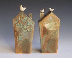 Ceramic Birdhouse bank