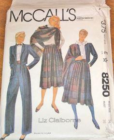McCall's 8250 Liz Claiborne Tuxedo Jacket Pants by SewBohemian