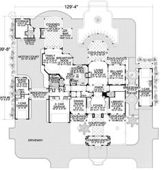 This mediterranean design floor plan is 6904 sq ft and has 6 bedrooms and has 8 bathrooms. Florida House Plans, Coastal House Plans, Luxury House Plans, Dream House Plans, House Floor Plans, Spanish Style Homes, Spanish House, Spanish Mansion, Spanish Colonial