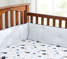want these sheets so bad!  Jackson Crib Fitted Sheet #PotteryBarnKids