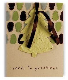 Plantable Seed Paper Ornament Cards are a unique and Eco-friendly way to wish your loved ones a Happy Holiday. Seeds n' Greetings! or use for Mother's Day and make flower shaped cards with wild flower seeds