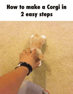 How to make a Corgi in 2 easy steps