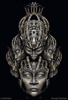 Lydia Anneli Bleth: Digital art by Luminokaya https://www.facebook.com...