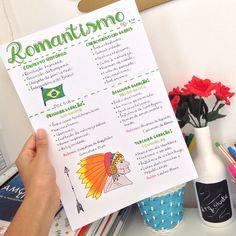 Quem aí também gosta de literatura como eu? ✨ #romantismo #literatura #mapamental #enem2018 #enem #studygram #estudos #linguagens #portugues