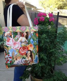 Large tote bag Tote bag Reversible tote Carry by SweetMagnoleah, $30.00