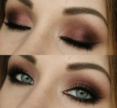 brown ombre-style shadow. great with blue or green eyes.