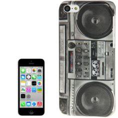 Retro iPhone 5C case / hoesje, ghetto blaster / radio. Iphone 5c Cases, Ipod, Samsung Galaxy, Retro, Accessories, Neo Traditional, Rustic, Ipods, Retro Illustration