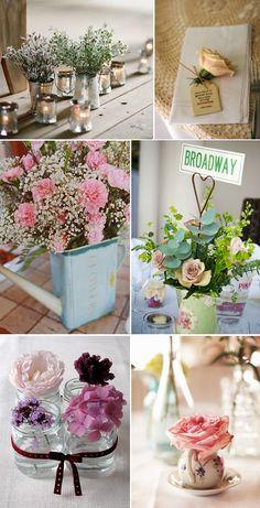 Centros de mesa para bodas vintage - Para Más Información Ingresa en: http://centrosdemesaparaboda.com/centros-de-mesa-para-bodas-vintage/