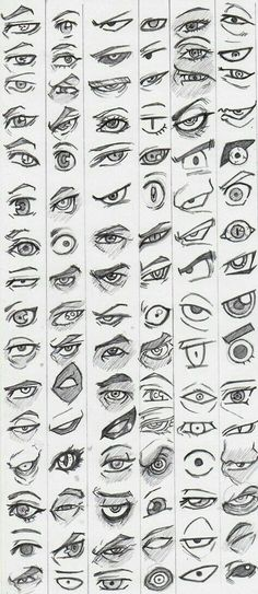 Learn to draw eyes - reference pictures - # learning - . - Learn to draw eyes – reference pictures – – drawings of people Eye Drawing Tutorials, Drawing Techniques, Drawing Tips, Drawing Base, Drawing Ideas, Drawing Drawing, Anime Eyes Drawing, Figure Drawing, Realistic Eye Drawing