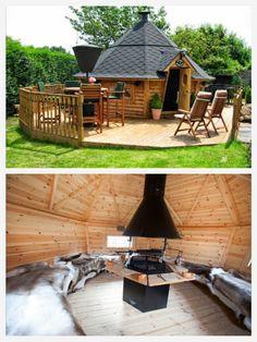 3 Bedroom Themes For Teenage Guys - Ribbons & Stars Bbq Hut, Hot Tub Room, Large Bbq, Barn Renovation, Tiki Hut, Modern Garden Design, Garden Office, Round House, Backyard Projects