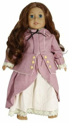 """Rose Pink Wool Colonial Horse Riding Habit Jacket & Skirt Underskirt Doll Clothes Dress Outfit Fits American Girl 18"""" Doll Felicity Elizabeth by Where The Dolls Go !. $19.99. Wonderful Vintage style perfect for Colonial, Medieval Periods. Fits full bodied 18"""" Dolls such as American Girl, Our Generation, Madame Alexander, All Your Doll Needs. Made by Private Label Company for 18"""" Dolls.. Perfect for a days ride!. Limited Stock !!. NEW sealed in plastic Beautiful..."""
