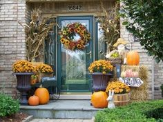 Front entrance for fall