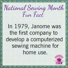#janome #nationalsewingmonth