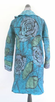 Roses #Nunofelted jacket by #SaraSmelt of #FeltEvolution and #LearnToFelt…