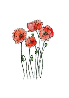 Knock Off Wall Decor happy habitat wall decor set.Dream Hope Believe Wall Decor fish wall decor.Stratton Home Decor Set Of 3 Gold Burst Wall Decor. Watercolor Poppies, Watercolor Cards, Red Poppies, Watercolor Print, Watercolor Illustration, Watercolor Paintings, Frederique, Happy Paintings, Wall Decor Stickers