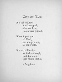 Give and Take by Lang Leav