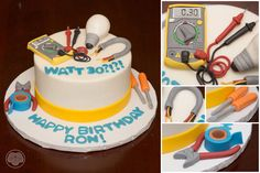 Electrician birthday cake