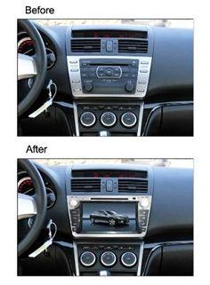 "BlueLotus® In-dash 8"" Touchscreen DVD GPS Navigation for Mazda 6 2009 2010 2011 2012 2013 w/ Tv Radio Bluetooth Steering Wheel Control RDS Sd/usb + Av + Reverse Car Rear Camera + Free USA Map"