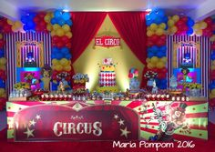 How fun is this circus birthday party! See more party ideas at CatchMyParty.com!