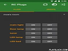 RC Plugs - Home Automation  Android App - playslack.com , RC Plugs allows you to remote-control all electronic outlets communicating on 433MHz and turns your smartphone or tablet into a universal remote control!This system is COMPLETELY FREE and WITHOUT ANY ANNOYING ADS.Note: By default, the app connects to a demo server so you can have a look at the system. However if you want to use it, you will have to install your own RC Plugs Server.Visit https://rcplugs.info for detailed installation…