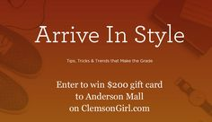 Clemson Girl - Win Anderson Mall gift card for back-to-school shopping