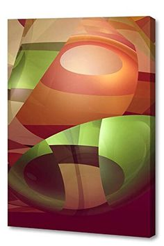 """$+  Menaul Fine Art """"Groovy"""" Limited Edition Artwork, 30 x 45"""", Red/Orange/Green/Taupe/Brown"""