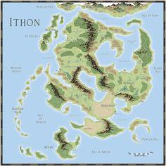 Par lindstrom style fantasy world map m a p s pinterest ithon fantasy worlds gumiabroncs Choice Image