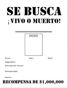 SE BUSCA Wanted Poster