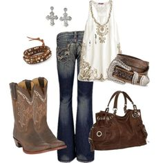 """Gotta love the western look"" by rinergirl on Polyvore"