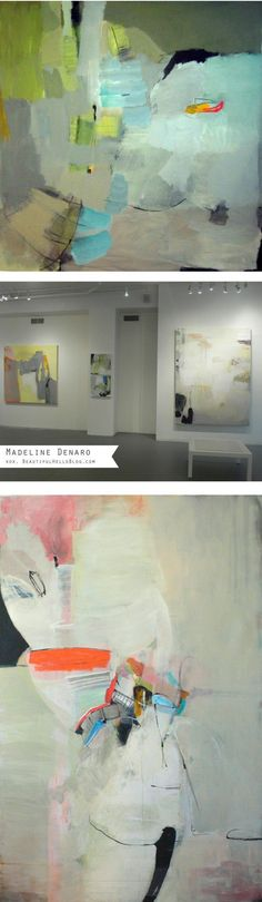 Amazing abstract painting by artist Madeline Denaro