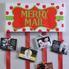 Merry Mail Canvas Card Holder