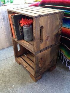 Hand Built Crate Night Stand by recirclematter on Etsy
