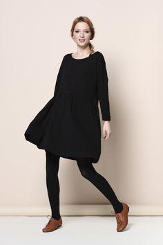 robe Tenille noir 100% coton flammé - robe - Des Petits Hauts