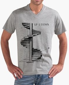 Escalera Espiral - Camiseta diseño exclusivo FLIP vintage, inspirada en   grabado antiguo. Diseño exclusivo, perspectiva, arquitectura, arte, decoración. Spiral Staircase T-shirt exclusive design FLIP , vintage, inspired by antique engraving. Design   exclusive staircase, perspective, architecture, art, decoration   http://www.fabianavila.com/blog/