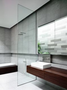 streamline bathroom - HYLA Architects - © Derek Swalwell