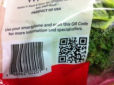 The same people who would actually scan a QR code on the back of a bag of kale are the same people who would legitimately enjoy becoming Facebook friends with kale - WTF QR Codes
