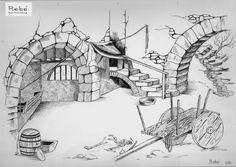 álbumes de fotos Architecture Portfolio, Architecture Design, Stained Glass Patterns, Portfolio Design, Line Drawing, Home Art, Landscape, Drawings, Bonsai