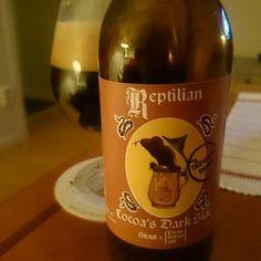 Cocoa's Dark Side from Cerveza Artersana Reptilian #cocoasdarkside #Artersana #Cerveza #Beer #spanishbeer #spain #Stout