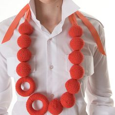 Knit Bead Necklace by Ruth Cross