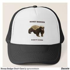 Honey Badger, Popular Colors, Animal Skulls, Custom Hats, Color Trends, Don't Care, Hot Pink, Baseball Hats, Unique