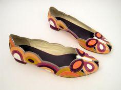 Miu Miu Multi Color Peep Toe Flats. Retail- $595, HW- $85