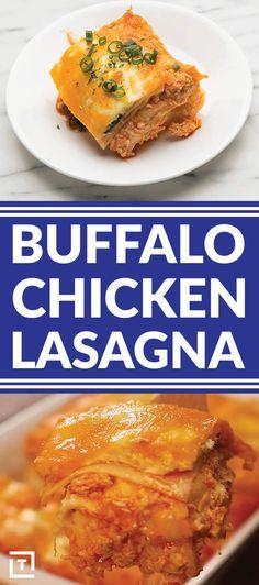This Buffalo Chicken Super Bowl Lasagna Recipe Is Better Than Football