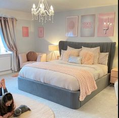 Check this 8 cheap things to maximize your small bedroom ( READ MORE ) Bedroom Decor Grey Pink, Bedroom Decor For Teen Girls, Cute Bedroom Ideas, Room Ideas Bedroom, Teen Room Decor, Small Room Bedroom, Home Decor Bedroom, Pink And Silver Bedroom, Bedroom Ideas For Small Rooms For Teens For Girls
