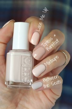 Hey Guys! Sorry I've been MIA. The tail end of summer got so CRAZY busy that I couldn't keep up with swatching and blogging. But what be... Nail Polish Color Names, Summer Nail Polish Colors, Fall Nail Colors 2017, Neutral Nail Polish, Essie Nail Polish Colors, White Nail Polish, Beautiful Nail Polish, Color Nails, Best Nail Polish