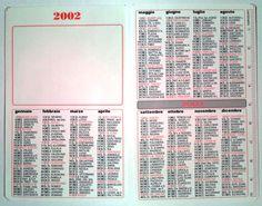 Calendarietto pubblicitario 2002